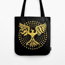Gold Decorated Phoenix bird symbol Tote Bag