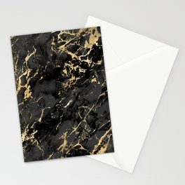 Black & Gold Marble Stationery Cards