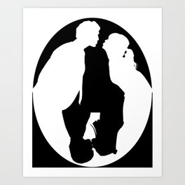 Pushing Daisies silhouette kiss Art Print