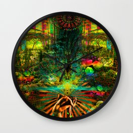 Forest Mind Expansion Wall Clock