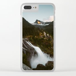 Mountain Dam Spillway Clear iPhone Case