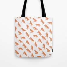 wild wolves pattern Tote Bag