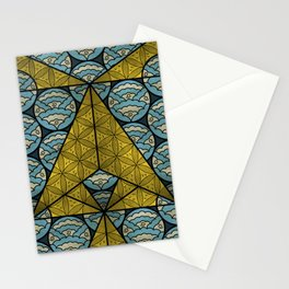 Sacred Geometry - Octahedron Air Stationery Cards