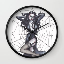 Pin-up Morticia Wall Clock