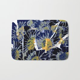 daisies on astract bakground Bath Mat