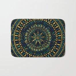 Chess Pieces Mandala - Marble and Golden texture Bath Mat