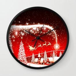 Santa Beautiful Christmas Wall Clock