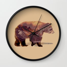 Glacier Grizzly Wall Clock