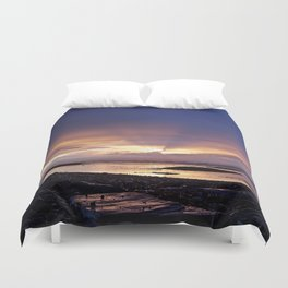 Beams of Light across the Sky Duvet Cover