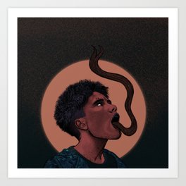 The Girl with the Dragon Tongue Art Print