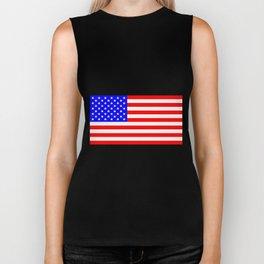 USA Stars and Stripes Flag Biker Tank