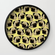 Pug Dogs Wall Clock