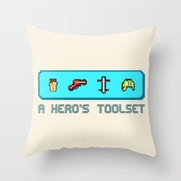 A Hero's Toolset Throw Pillow