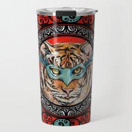 Masquerade Bengal Tiger Mandala Travel Mug