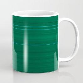 Dark Emerald Green with Light Blue Stripes Coffee Mug