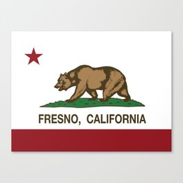 Fresno California Republic Flag Canvas Print