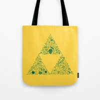 triforce Tote Bags featuring Triforce by Constanza Morales
