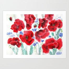 Flowers of the Cornfield Art Print