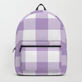 Lavender Gingham Pattern Backpack