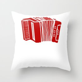 Music Everything is Going Accordian Plan Polka Throw Pillow