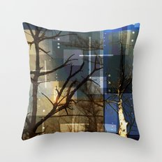Posterize Dead Trees Throw Pillow
