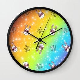 Gllama Llama Pattern Wall Clock