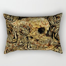 Skull and Roses Rectangular Pillow