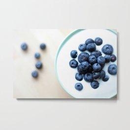 Blueberries & Yogurt  Metal Print