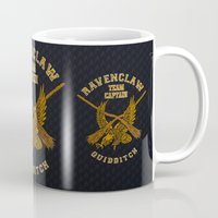 quidditch Mugs featuring Ravenclaw quidditch team iPhone 4 4s 5 5c, ipod, ipad, pillow case, tshirt and mugs by Three Second