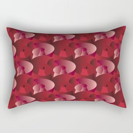 At Least a Dozen Red and Pink Roses Rectangular Pillow