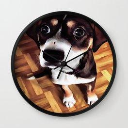 Marty The Soulful Eyed Dog  Wall Clock