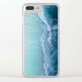 Turquoise Sea Clear iPhone Case