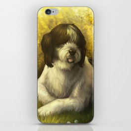 Jake: Sheepdog Portrait iPhone Skin