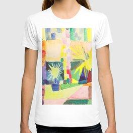 "August Macke ""Garten am Thuner See (Garden on Lake Thun)"" (I) T-shirt"
