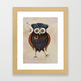 Captain Hooterbottom Owl Framed Art Print
