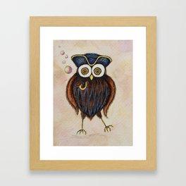 Captain Hooterbottom Owl Framed Art Print