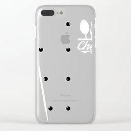 Chef product Costume, Cook graphic, Culinary design Clear iPhone Case
