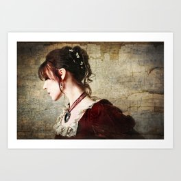 Twilight Held Me in Her Serenade Art Print