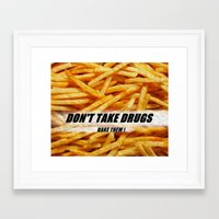 french fries Framed Art Prints featuring French Fries by Ispas Sorin