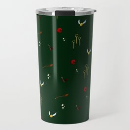 Quidditch Pattern - Slytherin Travel Mug