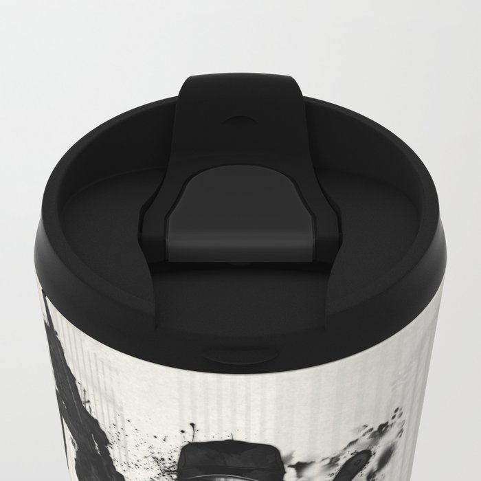 Post Apocalyptic Warrior Metal Travel Mug