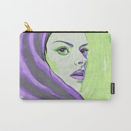Lady In Purple Hood Carry-All Pouch