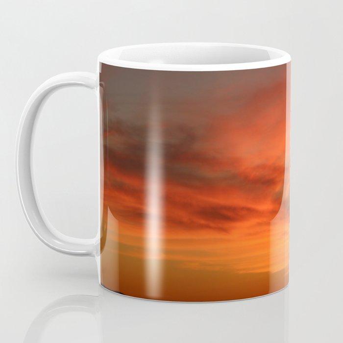 Red and Orange October Sunset Coffee Mug