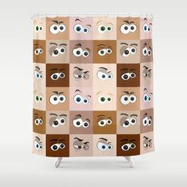 Cartoon Eyes Shower Curtain