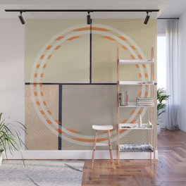 Toned Down - orange circle Wall Mural