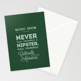 Never Call Yourself a Hipster — Music Snob Tip #003 Stationery Cards