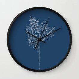 English Oak Blueprint Wall Clock