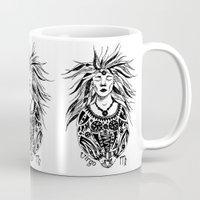 virgo Mugs featuring Virgo by Anna Shell