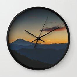 Mt Adams Sunrise - Pacific Crest Trail, Washington Wall Clock