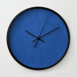 Blue Leather texture Wall Clock